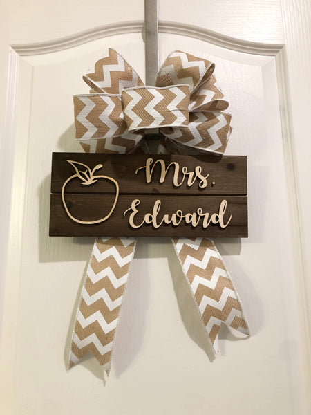 Custom Wood Teacher Sign
