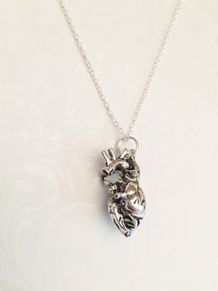 Human Anatomical Heart Necklace - Anomaly Creations & Designs  - 4
