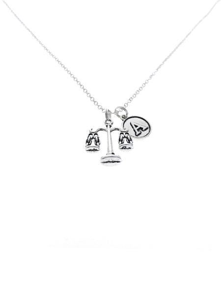 scales of justice necklace gift for attorney lawyer
