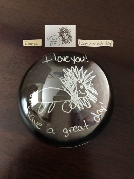 Glass Dome Paperweight - Customize with Handwriting