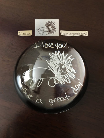 Glass Dome Paperweight - Customize