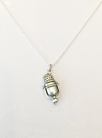 Microphone Necklace - Anomaly Creations & Designs  - 1