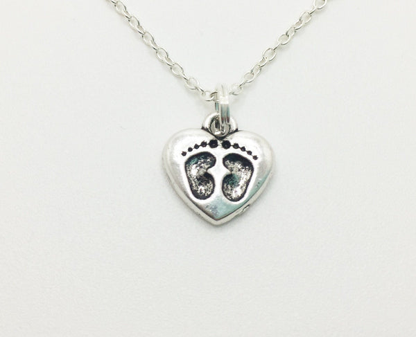 Baby Foot Prints Necklace - Anomaly Creations & Designs