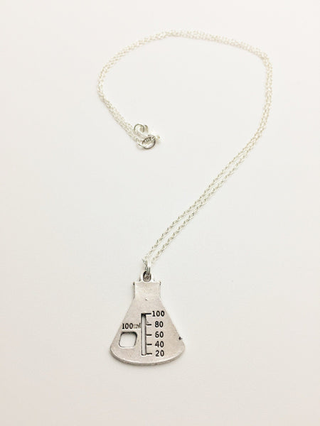 Erlenmeyer Flask Beaker Necklace - Anomaly Creations & Designs  - 4