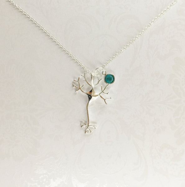 Neuron Necklace with Swarovski Birthstone - Anomaly Creations & Designs  - 3