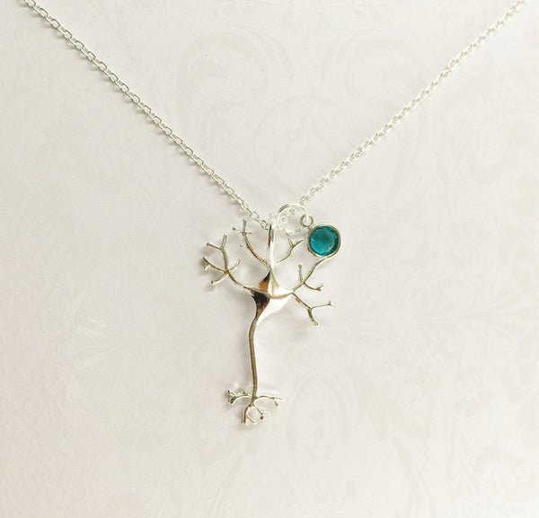 Neuron Necklace with Swarovski Birthstone - Anomaly Creations & Designs  - 4