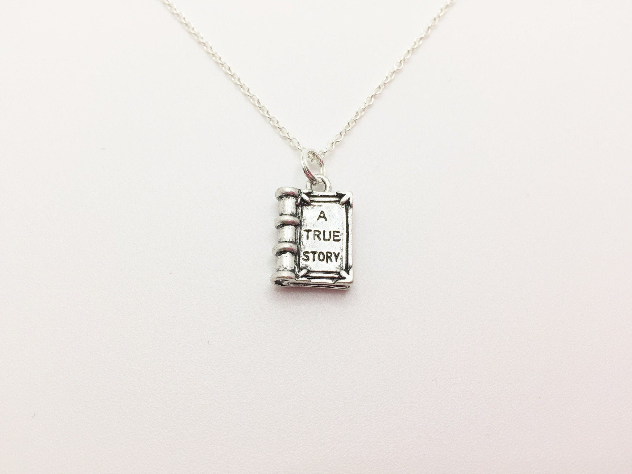 "Book Necklace  ""A true story"" - Anomaly Creations & Designs"