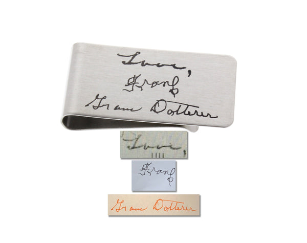Money Clip - Custom Handwriting or Drawing