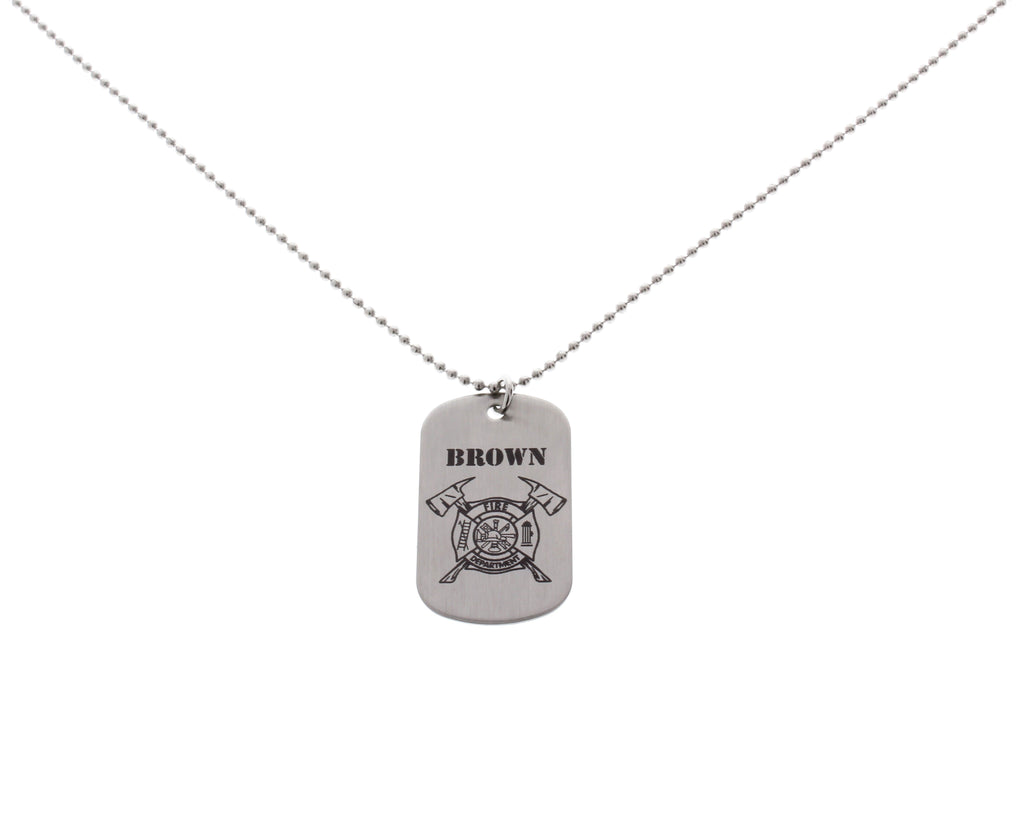 pendant this necklaces hers pin engraving personalize firefighter maltese custom cross his
