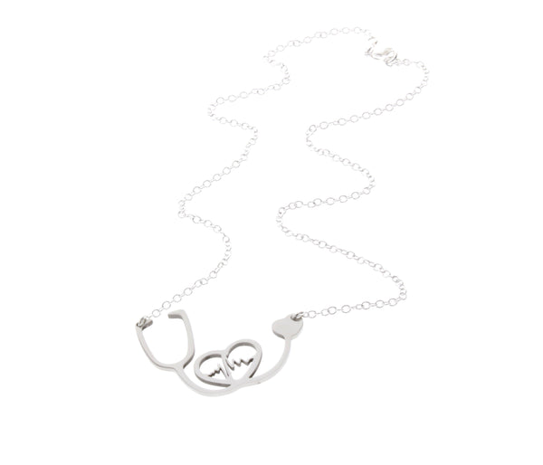 Heart EKG Stethoscope Necklace