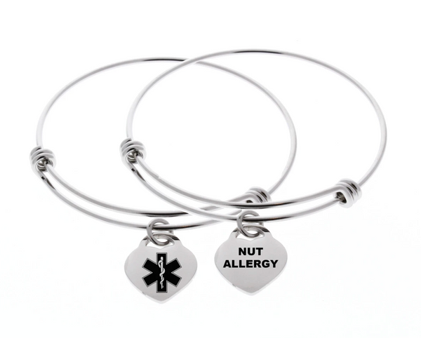 Medical alert bracelet nut allergy peanut allergy medical ID bracelet