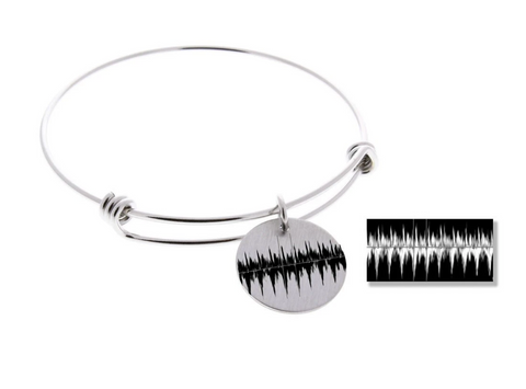 Actual Heartbeat EKG Bangle Bracelet