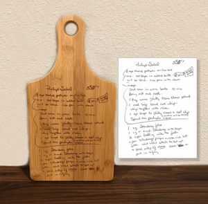 Recipe Cutting Board (Actual Handwritten Recipe)