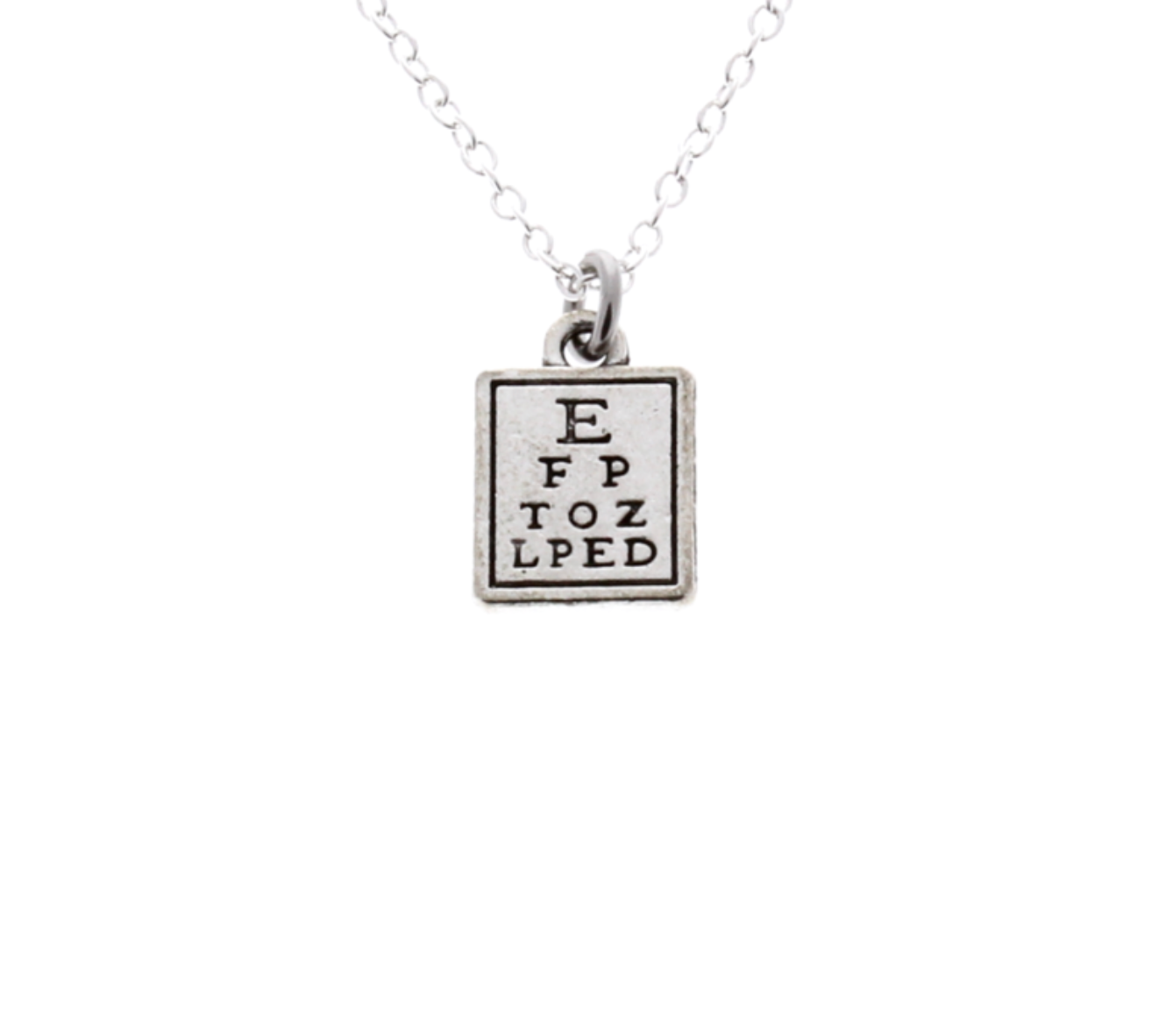 Snellen Eye Chart Necklace
