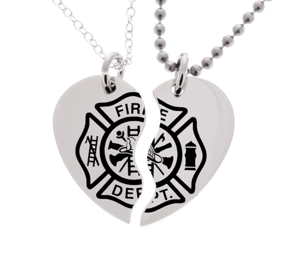 Firefighter His & Hers Necklaces