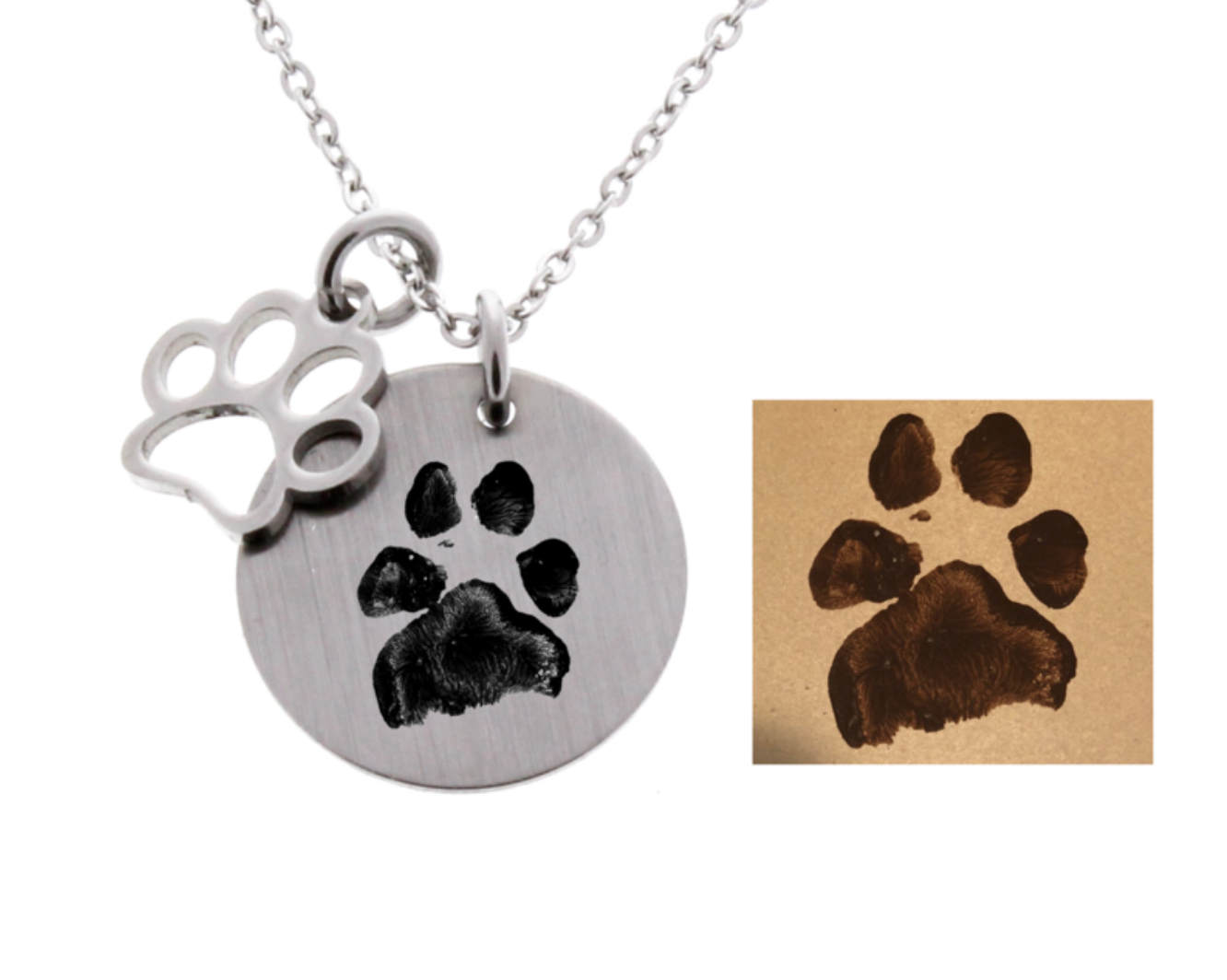 Paw Print Necklace - Real paw print!
