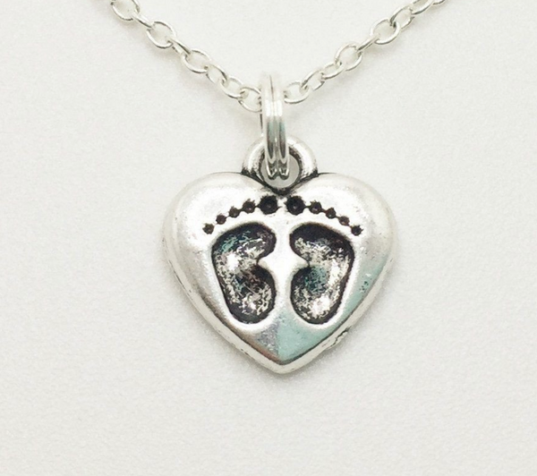 Baby Foot Prints Necklace