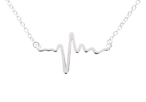 Electrocardiogram Heartbeat Necklace