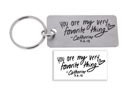 Handwriting Keychains