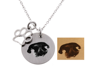 Dog Nose Print Necklace