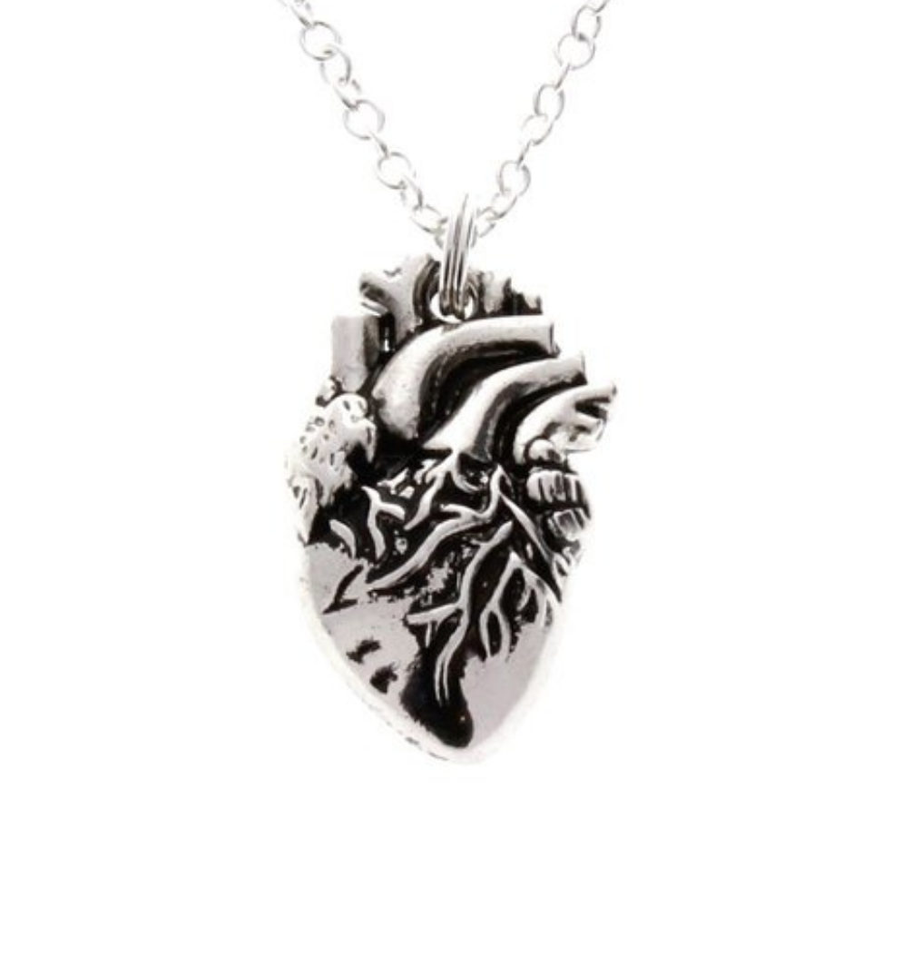 Human Anatomical Heart Necklace