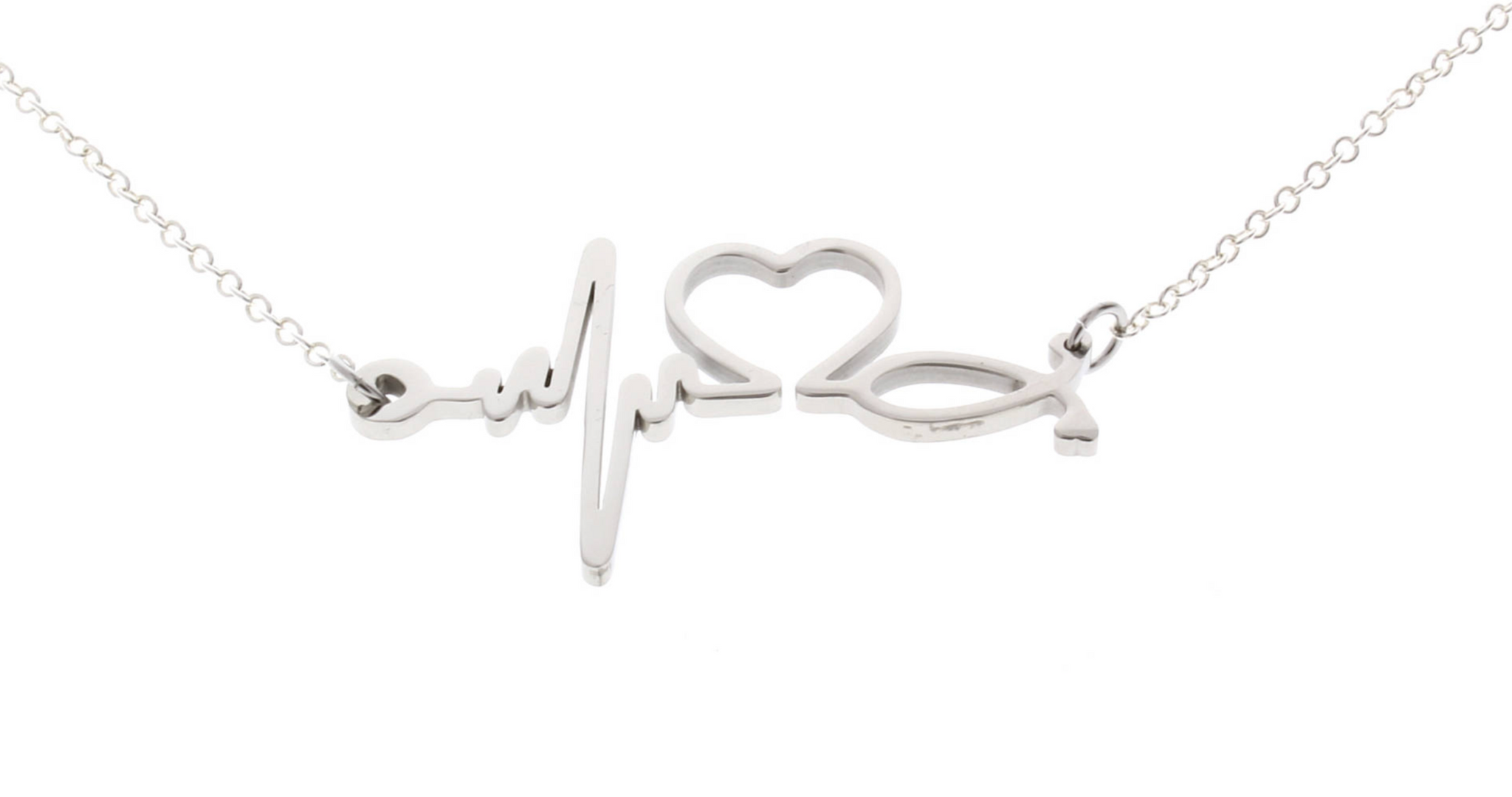 Electrocardiogram EKG Heartbeat Necklace