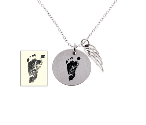 Baby Footprint Necklace