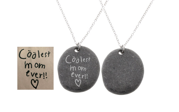 Stone Necklace - Real Handwriting