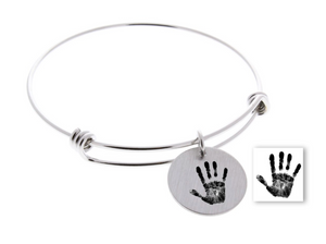 Handprint or Footprint, Bangle Bracelet (Customize!)