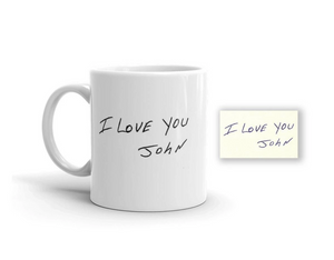 Actual Handwriting Mug