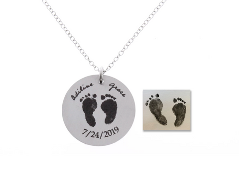 Baby Footprint Necklace (Customize)