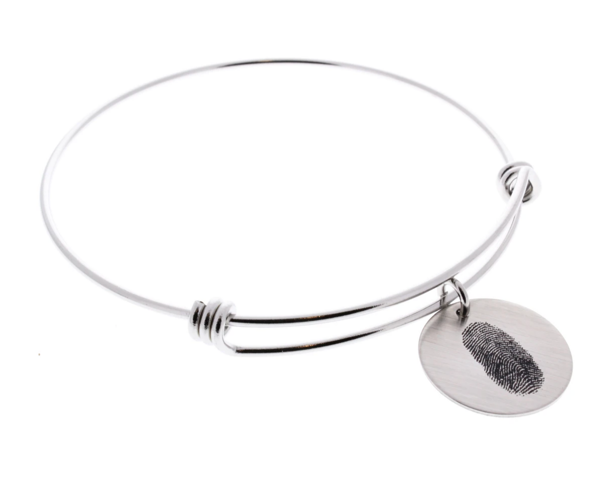 Fingerprint Bangle Bracelet