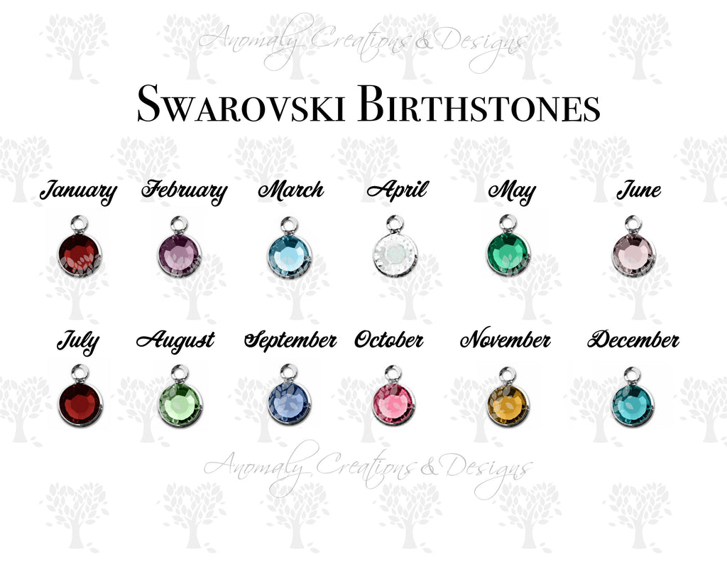 Lotus Flower Necklace With Birthstone Initial Anomaly
