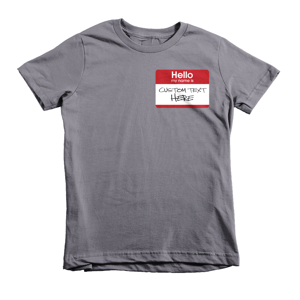 Hello my name is (CUSTOM TEXT) KIDS T-Shirt - Anomaly Creations & Designs  - 1
