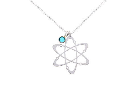 Atom Molecule Necklace - with Swarovski Birthstone