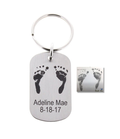 Baby Footprints Keychain- Customize