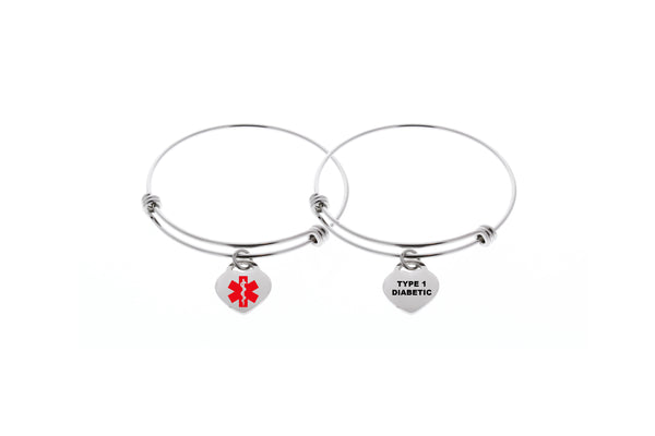 Medical Alert Bangle Bracelet (Customize)