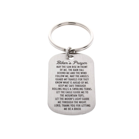 Bikers Prayer Dog Tag Keychain - Anomaly Creations & Designs