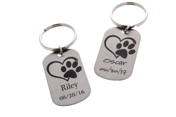 paw print engraved pet memorial gift pet keepsakes dog paw print engraved