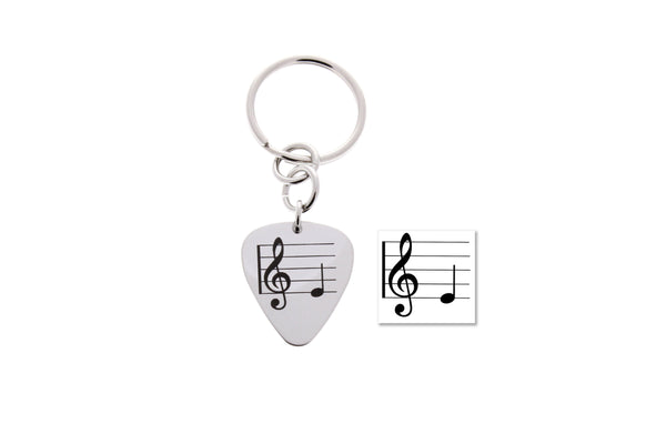 Custom Guitar Pick Keychain