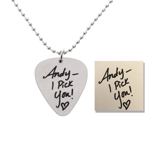 custom handwriting engraved guitar pick