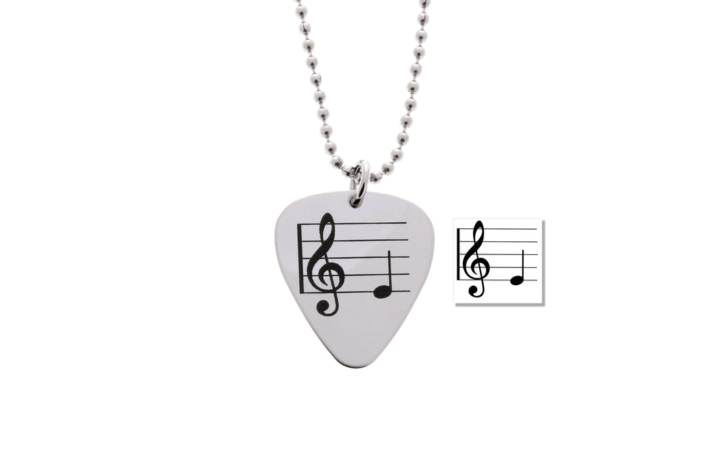necklaces hand namecoins grande necklace guitar interlocking coin with pick and collections note picks cut music