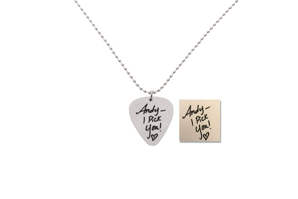 Custom Guitar Pick Necklace