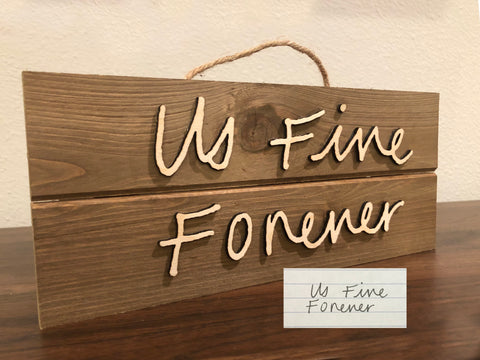 Actual Handwriting Wood Sign