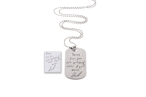 Custom Dog Tag Necklace (Personalize it!)