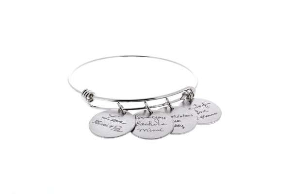 Handwriting Bangle Bracelet