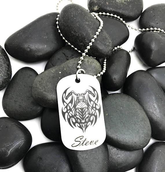 Custom Dog Tag Necklace (Personalize it!) - Anomaly Creations & Designs