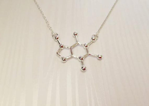 Caffeine Molecular Necklace - Anomaly Creations & Designs