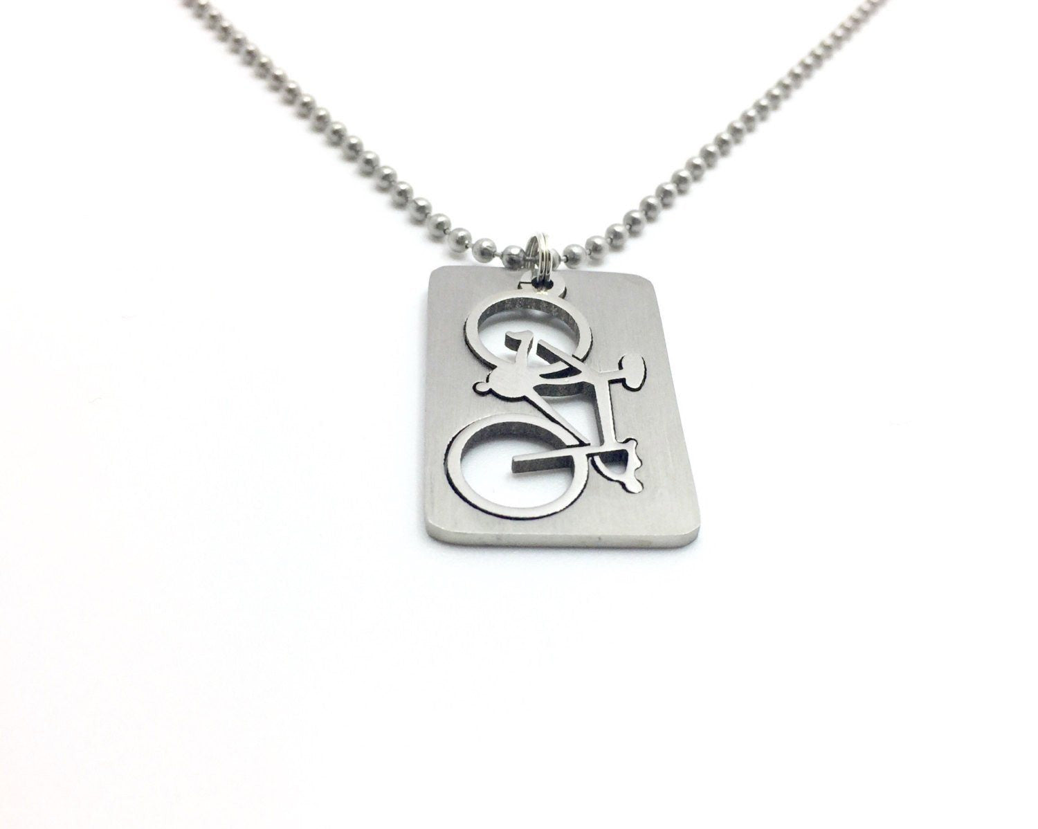 His or Hers Bicycle Necklace
