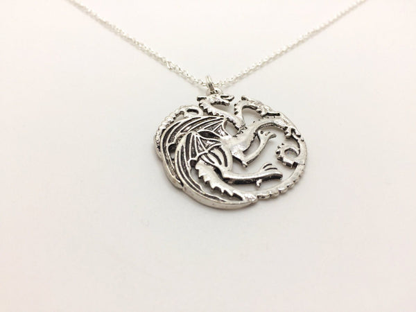 House Targaryen Three Headed Dragon Necklace, Inspired by Game of Thrones